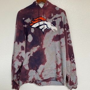 Denver Broncos Hooded Sweatshirt, Acid Wash